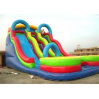 Wholesale Commercial PVC Tarpaulin Inflatable Theme Park With Double Slide Combo from china suppliers