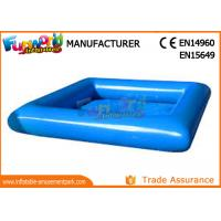 Wholesale Large Blue PVC tarpaulin Inflatable Water Pools Square / Round Shape from china suppliers
