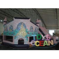 Wholesale Kids White Snow Princess Inflatable Bounce Play Castle With Slide For Sale from china suppliers