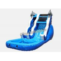 China 16 ft Dolphin Rush Wave Commercial Inflatable Water Slides 7 * 4 * 5m on sale