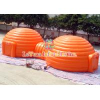Wholesale 24M Round Tarpaulin Inflatable Dome Tent With Large Tunnel Digital Printing from china suppliers