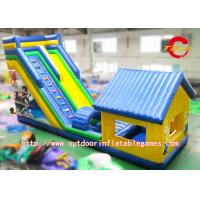 China Fire Retardant Outdoor Customized Blow Up Water Slides With Pool on sale