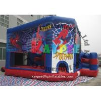 Wholesale Spiderman combo ,inflatable combo game,spiderman bouncer with slide obstacle KCB060 from china suppliers