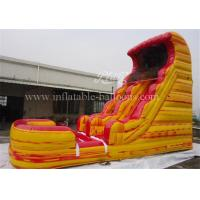 China Giant Inflatable Bouncy Slide Red Yellow Digital Printing For Children Playground on sale