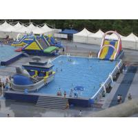 China Summer Water Slide Amusement Park Above Ground Metal Pool Playground Equipment Use on sale
