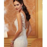 Quality Sleeve Fashion Ladies Wedding Dresses Long White For Girls Or Women for sale