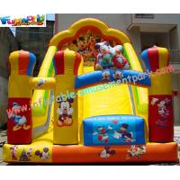 Wholesale Custom Kids Amusement Mickey Commercial Inflatable Slide with strong handles safety from china suppliers