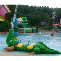 Wholesale Exciting Fiberglass Crocodile Spray Water Equipment For Children Play In Splash Park from china suppliers