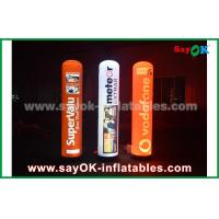 Wholesale 190T Nylon Cloth Inflatable Lighting Decoration , 2m Advertising Inflatable Pillar With LED Lighting from china suppliers