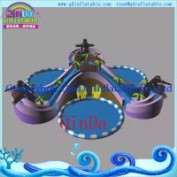 Wholesale large adult size inflatable water slide with pool, jumbo water slide inflatable pool from china suppliers