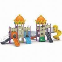 Buy cheap Outdoor Playground Equipment with 3mm Wall Thickness and Steel Posts from wholesalers