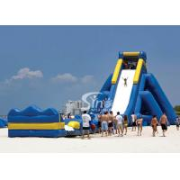 China 10m high commercial giant hippo inflatable water slide for adults with pool ended for beach water park on sale