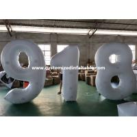 Quality European Standard White PVC Inflatable Advertising Number Display Figure Balloon for sale