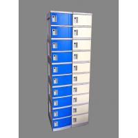Wholesale 10 Tier Blue Mobile Phone Lockers Corrosion Proof With Clover Keyless Lock from china suppliers
