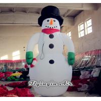 Wholesale Customized Inflatable snowman with Black Hat for Christmas Decoration from china suppliers