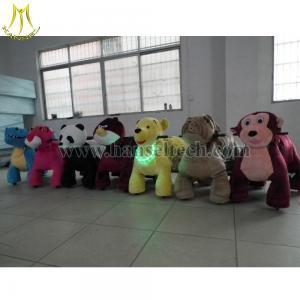 Wholesale Hansel plush motorized animals kid plush toy bike ride on motorized animals for Mall from china suppliers