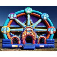 Quality Ferris Wheel Inflatable Combo Bounce House / Commercial Jumping Castle for sale