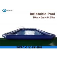 Wholesale in stock movable 10*5m inflatable pool for water roller from china suppliers