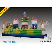 Wholesale 0.55mm PLATO PVC Tarpaulin Inflatable Fun City Blow Up Bounce House YHFC 009 from china suppliers