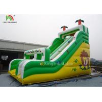 Wholesale Yellow / Green Coconut Tree Blow Up Dry Slide Cold - Resistant And Durable from china suppliers