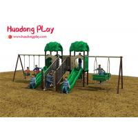 Buy cheap Kid Plastic Amusement Park Outdoor Playground Slides About 7 Volume Cubic Meter from wholesalers