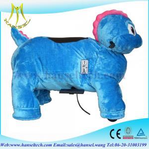China Hansel horse riding machine, plush moving toys on sale