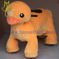 Wholesale Hansel plush motorized animals coin animal rides from china suppliers