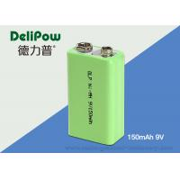 Wholesale 9V 150mAh Industrial Rechargeable Battery With SGS / UL / CE / ROHS from china suppliers
