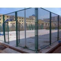 China Pvc Coated Chain Link Fence , Diamond Mesh Wire Fence Galvanized For School on sale
