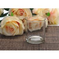 Quality Luxury Decorative Glass Candle Holder Frosted / Party Candle Holders for sale