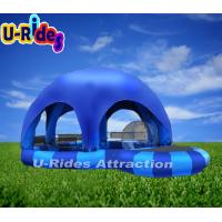 Buy cheap Blue Adult Round Inflatable Swimming Pools Tent With Hot Welded 6m x 6m x 0.65m from wholesalers