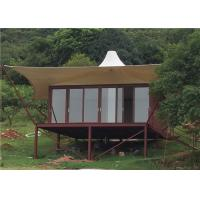 Buy cheap Anti-corrosion Treatment Steel Frame Resort Tent Luxury Hotel House For Sale from wholesalers