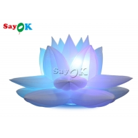 China Party Decoration 3m Inflatable Lotus Flower Model With Led on sale