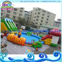 Buy cheap Portable Inflatable Aqua Park Inflatable Swimming Pool with slide from wholesalers