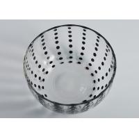 Quality Colored Round Glass Candle Holder / Glass Candle Bowls Recyclable for sale