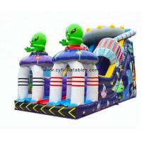 Quality 0.55PVC inflatable dry slid 4×8Meter Alien inflatable slide for sale