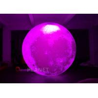 Colorful Changing Large Inflatable Moon Ball 3m Dia Customized