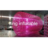 China Inflatable Water Toy , Transparent Red PVC / TPU  Water Roller For Kids / Adults on sale