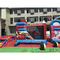 Wholesale Colorful Car Inflatable Castle Children Bounce Combos , Bounce House Funny Games from china suppliers