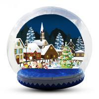 Quality Festival Decoration Airblown Inflatable Snow Globe Customized Logo for sale