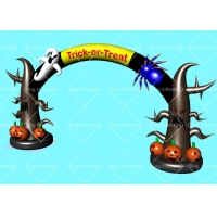 Wholesale Outdoor Helloween Trick Or Treat  Inflatable Pumpkin Arch With Air Blower from china suppliers
