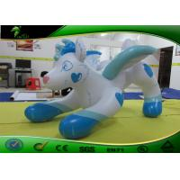 Wholesale Vivid White Wolf Inflatable Cartoon Characters With Heart - Shaped Printing from china suppliers