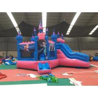 Attractive Bounce House Wet Or Dry Combo / High Durability Frozen Blow Up Castle