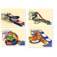 Buy cheap Interactive Swimming Pool Water Slide Equipment Mix Color Steel Columns from wholesalers