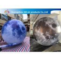 Wholesale 210T Polyester Inflatable Lighting Decoration / Inflatable Moon Globe from china suppliers