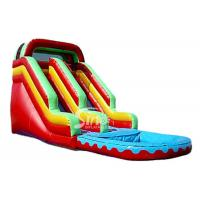 China Red Commercial Grade Inflatable Bounce House Water Slide for Residential on sale