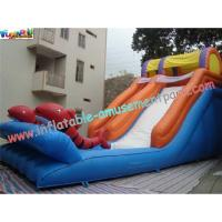 Quality Kids Outdoor Inflatable Water Slides Games with PVC tarpaulin, Reinforced seams for Rental for sale