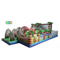 Wholesale Dinosaur Jurassic Themed Inflatable Bounce House Combo Adventure Amusement Playground from china suppliers