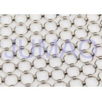 Shopping Mall Chainmail Mesh Fabric , Colorful Iron Curtains With Metal Rings