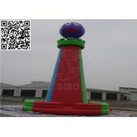China Colorful Reinforced Inflatable Sports Games , Climbing Mountain Net Inflatable Rock Wall on sale